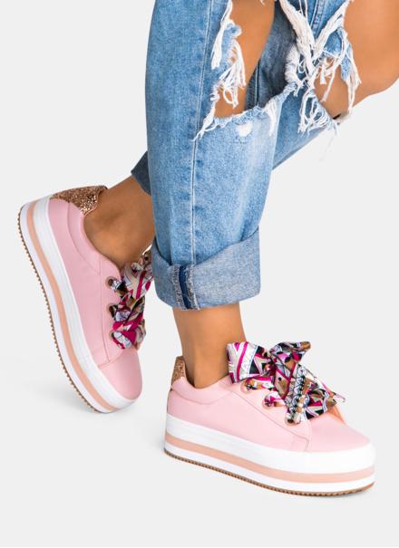 Różowe buty sportowe Mili